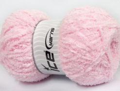 Lot of 4 x 100gr Skeins Ice Yarns PUFFY (100% MicroFiber) Yarn Light Pink