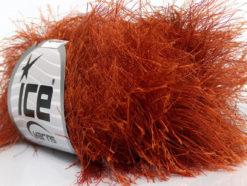 Lot of 8 Skeins Ice Yarns LONG EYELASH Hand Knitting Yarn Copper