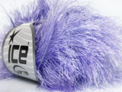 Lot of 8 Skeins Ice Yarns LONG EYELASH Hand Knitting Yarn Light Lilac