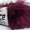 Lot of 8 Skeins Ice Yarns LONG EYELASH Hand Knitting Yarn Burgundy