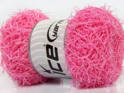 Lot of 4 x 100gr Skeins Ice Yarns SCRUBBER TWIST Hand Knitting Yarn Light Pink