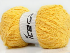 Lot of 4 x 100gr Skeins Ice Yarns PUFFY (100% MicroFiber) Yarn Light Yellow