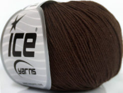 Lot of 8 Skeins Ice Yarns BABY SUMMER (60% Cotton) Yarn Dark Brown