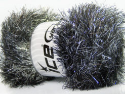 Lot of 4 x 100gr Skeins Ice Yarns EYELASH DAZZLE Yarn Black Silver