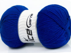 Lot of 4 x 100gr Skeins Ice Yarns VIRGIN WOOL DELUXE (100% Virgin Wool) Yarn Bright Blue