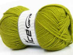 Lot of 4 x 100gr Skeins Ice Yarns SOFTLY BABY Hand Knitting Yarn Green