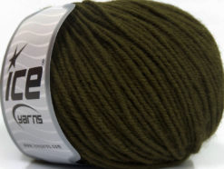 Lot of 6 Skeins Ice Yarns SUPERWASH MERINO Hand Knitting Yarn Dark Green