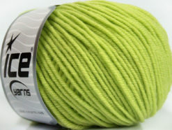Lot of 6 Skeins Ice Yarns SUPERWASH MERINO Hand Knitting Yarn Light Green