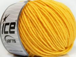 Lot of 6 Skeins Ice Yarns SUPERWASH MERINO Hand Knitting Yarn Yellow