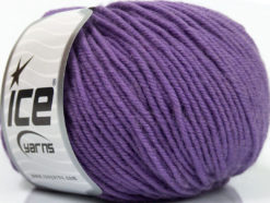 Lot of 6 Skeins Ice Yarns SUPERWASH MERINO Hand Knitting Yarn Lilac