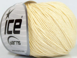 Lot of 8 Skeins Ice Yarns BABY SUMMER (60% Cotton) Yarn Light Lemon Yellow