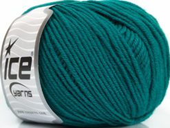 Lot of 4 Skeins Ice Yarns SUPERWASH MERINO EXTRAFINE (100% Superwash Extrafine Merino Wool) Yarn Teal