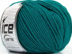 Lot of 4 Skeins Ice Yarns SUPERWASH MERINO EXTRAFINE (100% Superwash Extrafine Merino Wool) Yarn Teal