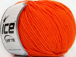 Lot of 4 Skeins Ice Yarns SUPERWASH MERINO EXTRAFINE (100% Superwash Extrafine Merino Wool) Yarn Orange