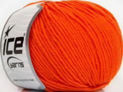 Lot of 4 Skeins Ice Yarns SUPERWASH MERINO EXTRAFINE (100% Superwash Extrafine Merino Wool) Yarn Orange