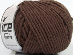 Lot of 3 x 100gr Skeins Ice Yarns SUPERWASH WOOL BULKY (100% Superwash Wool) Yarn Dark Brown