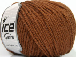 Lot of 3 x 100gr Skeins Ice Yarns SUPERWASH WOOL BULKY (100% Superwash Wool) Yarn Brown