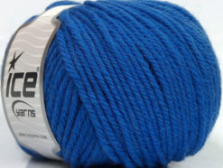 Lot of 3 x 100gr Skeins Ice Yarns SUPERWASH WOOL BULKY (100% Superwash Wool) Yarn Blue