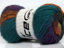 Lot of 8 Skeins Ice Yarns MARVELOUS PURE WOOL (100% Wool) Yarn Teal Purple Black Brown