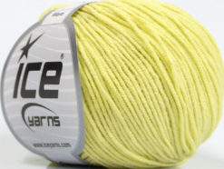 Lot of 8 Skeins Ice Yarns ALARA (50% Cotton) Hand Knitting Yarn Lemon Yellow
