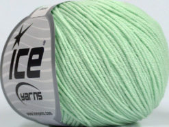 Lot of 8 Skeins Ice Yarns ALARA (50% Cotton) Hand Knitting Yarn Mint Green