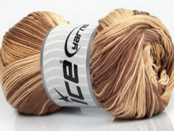 Lot of 4 x 100gr Skeins Ice Yarns CAMILLA COTTON MAGIC (100% Mercerized Cotton) Yarn Brown Shades