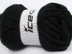 250 gr ICE YARNS ALPINE XL (45% Wool) Hand Knitting Yarn Black