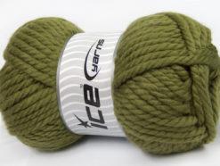 250 gr ICE YARNS ALPINE XL (45% Wool) Hand Knitting Yarn Khaki