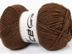 Lot of 4 x 100gr Skeins Ice Yarns LORENA WORSTED (55% Cotton) Yarn Brown