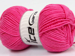 Lot of 4 x 100gr Skeins Ice Yarns LORENA WORSTED (55% Cotton) Yarn Candy Pink