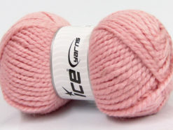 Lot of 2 x 150gr Skeins Ice Yarns SuperBulky ALPINE ALPACA (30% Alpaca 10% Wool) Yarn Light Pink