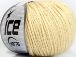Lot of 6 Skeins Ice Yarns BABY MERINO DK (40% Merino Wool) Yarn Cream