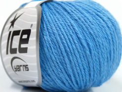 Lot of 6 Skeins Ice Yarns BABY MERINO DK (40% Merino Wool) Yarn Light Blue