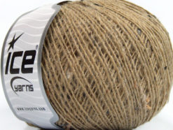 Lot of 8 Skeins Ice Yarns Tweed WOOL CORD FINE (30% Wool) Yarn Beige