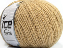 Lot of 8 Skeins Ice Yarns WOOL CORD FINE (30% Wool) Yarn Dark Cream