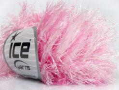 Lot of 8 Skeins Ice Yarns LONG EYELASH COLORFUL Hand Knitting Yarn Pink White