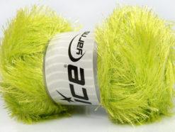 Lot of 4 x 100gr Skeins Ice Yarns EYELASH GLITZ Hand Knitting Yarn Light Green