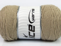 Lot of 2 x 200gr Skeins Ice Yarns SAVER Hand Knitting Yarn Beige