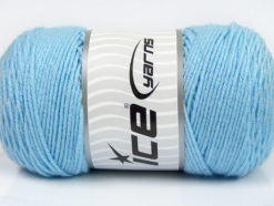 Lot of 2 x 200gr Skeins Ice Yarns SAVER Hand Knitting Yarn Light Blue