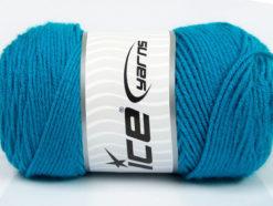 Lot of 2 x 200gr Skeins Ice Yarns SAVER Hand Knitting Yarn Turquoise