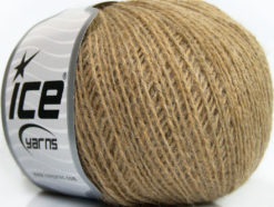 Lot of 8 Skeins Ice Yarns WOOL FINE 30 (30% Wool) Yarn Light Brown Melange