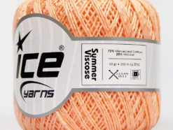 Lot of 6 Skeins Ice Yarns SUMMER VISCOSE (72% Mercerized Cotton 28% Viscose) Yarn Light Orange