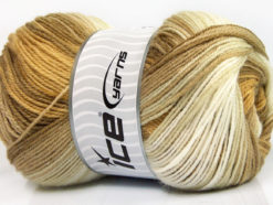 Lot of 4 x 100gr Skeins Ice Yarns MAGIC BABY Yarn Camel Beige Gold Cream