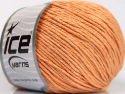 Lot of 4 x 100gr Skeins Ice Yarns COTTON BAMBOO LIGHT (60% Bamboo 40% Cotton) Yarn Light Salmon