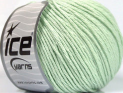 Lot of 4 x 100gr Skeins Ice Yarns COTTON BAMBOO LIGHT (60% Bamboo 40% Cotton) Yarn Mint Green