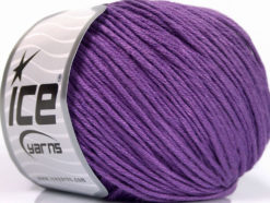 Lot of 4 x 100gr Skeins Ice Yarns COTTON BAMBOO LIGHT (60% Bamboo 40% Cotton) Yarn Lavender