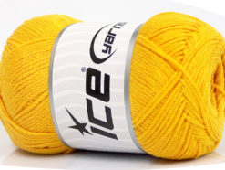 Lot of 4 x 100gr Skeins Ice Yarns NATURAL COTTON AIR (100% Cotton) Yarn Yellow