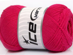 Lot of 4 x 100gr Skeins Ice Yarns NATURAL COTTON AIR (100% Cotton) Yarn Fuchsia