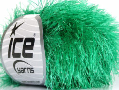 Lot of 8 Skeins Ice Yarns EYELASH Hand Knitting Yarn Emerald Green