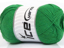 Lot of 4 x 100gr Skeins Ice Yarns NATURAL COTTON AIR (100% Cotton) Yarn Green
